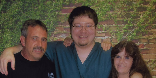 Scott Tadych (left) Brendan Dassey (center) and Barb Tadych (right).