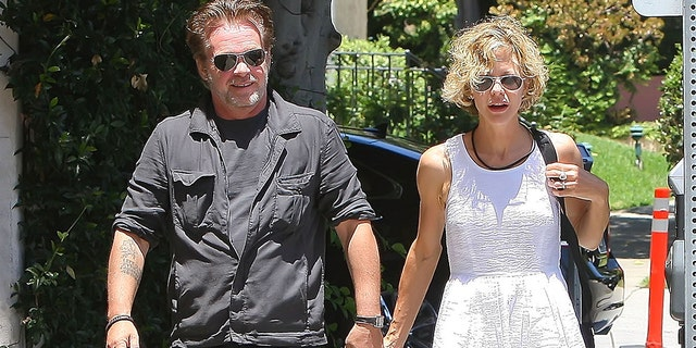 Meg Ryan and John Mellencamp are seen on July 26, 2012 in Los Angeles, California.