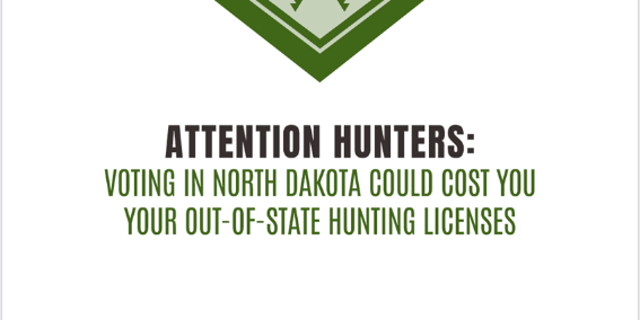 The North Dakota Democratic Party is under fire for purchasing an advertisement warning hunters they could lose their out-of-state hunting licenses if they vote in the upcoming election.
