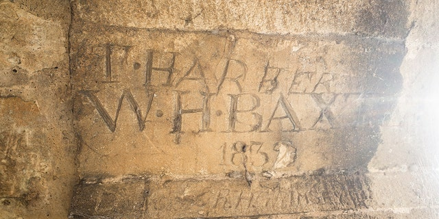 Grafitti dating back to the 1760s was found in the rooms. (©Blenheim Palace)