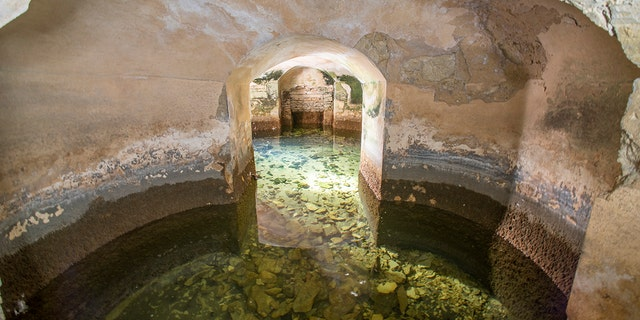 The hidden rooms have been revealed after 250 years underwater.