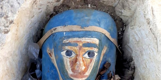 One of the painted mummies (Egyptian Ministry of Antiquities via AP)