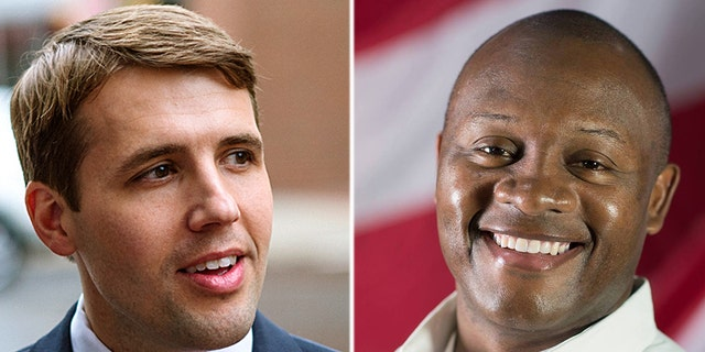 The race between Chris Pappas (left) and Eddie Edwards (right) is ranked as leaning Democrat.