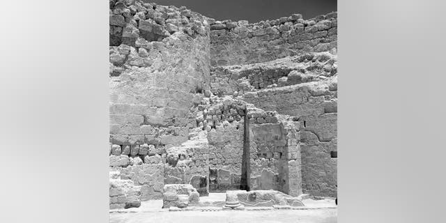 View of the area where the ring bearing Pontius Pilate's name was found. (Courtesy of G. Foerster)