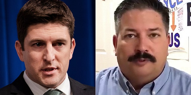 The race between Randy Bryce (right) and Bryan Steil (left) is ranked as leaning Republican.