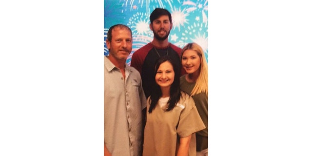Rod Blanchard (left) and Gypsy Rose Blanchard (center) pictured with Gypsy's step-siblings Dylan and Mia.