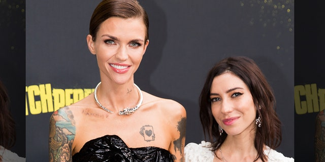 Ruby Rose and Jess Origliasso, right, are pictured here on November 29, 2017.