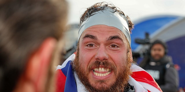 Ross Edgley said the darkest moment of his 'Great British Swim' was when a giant jellyfish attached itself to his face for about 30 minutes. (Photo by Luke Walker/Getty Images for Red Bull)