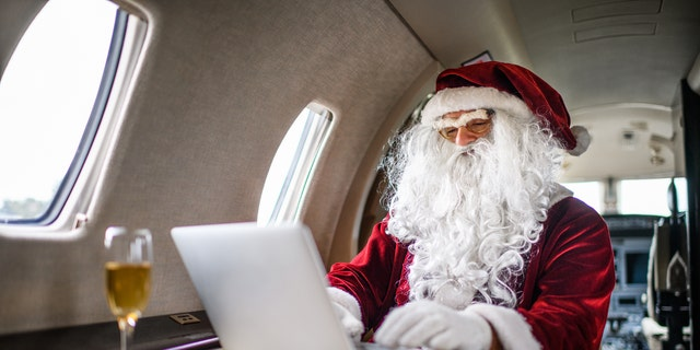 We can't all afford our own private jets like Santa.