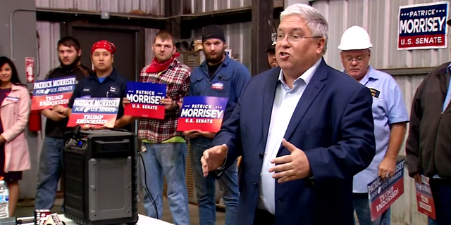 Patrick Morrisey rallies votes among coal miners just one day ahead of the election.