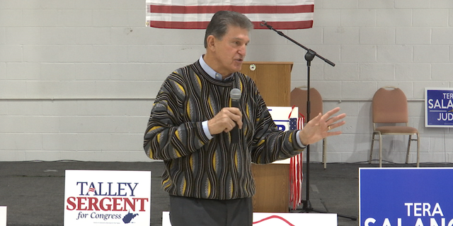 """Sen. Joe Manchin speaking at """"Early Voter"""" campaign event over the weekend."""