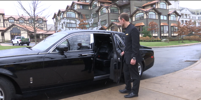 Guests can have a butler available 24-7 and be escorted via Rolls Royce around the property.