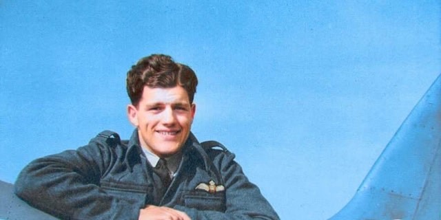 "Flt. Lt. Alastair ""Sandy"" Gunn was executed for his role in the ""Great Escape"" prisoner breakout. (Spitfire AA810 Project)"