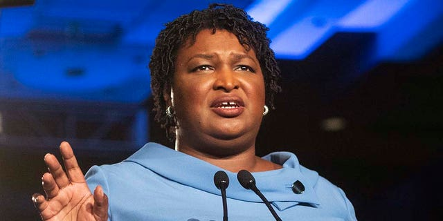 Stacey Abrams acknowledged Friday that she could not defeat her GOP opponent in Georgia's gubernatorial election. (AP Photo/John Amis)