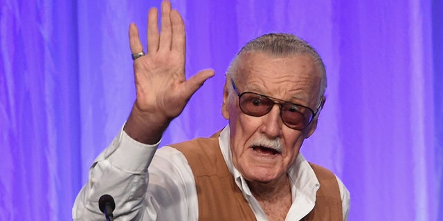 Stan Lee speaks onstage at the Hollywood Foreign Press Association's Grants Banquet at the Beverly Wilshire Four Seasons Hotel on August 2, 2017 in Beverly Hills, California.