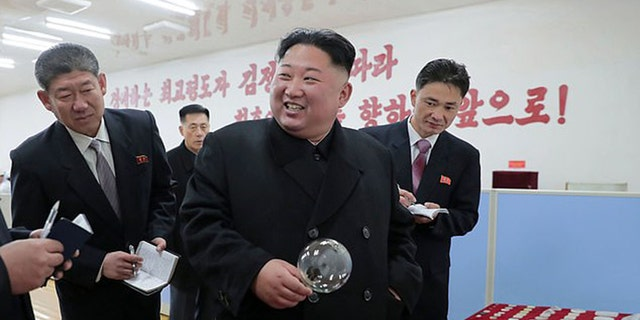 "Kim Jong Un gave ""field guidance"" at Taegwan Glass Factory, KCNA announced Sunday."