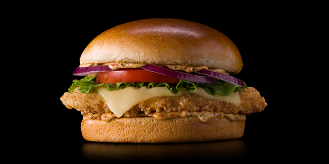 From Canadian menus, this McDonald's will sell tomato mozzarella chicken sandwiches.