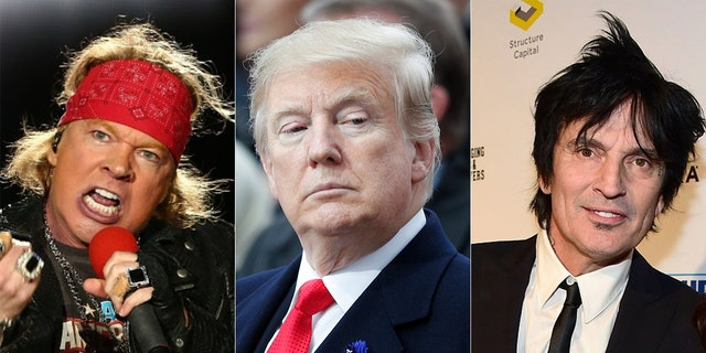 Axl Rose and Tommy Lee were among the celebrities who criticized President Trump for his response to the California wildfires.