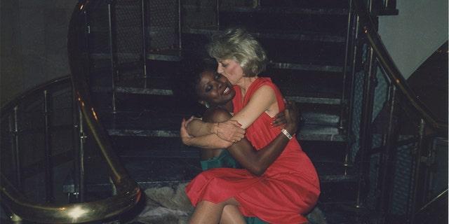 Suzanne Mitchell (right) with Toni Washington.