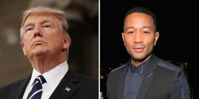 John Legend criticized President Trump on Twitter Wednesday