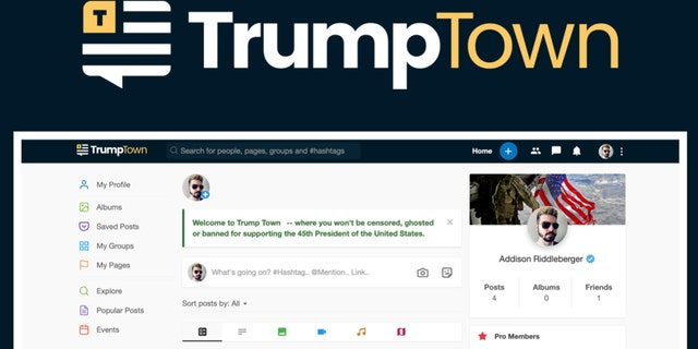"""Trump Town"" is a new social network as an alternative to Facebook."