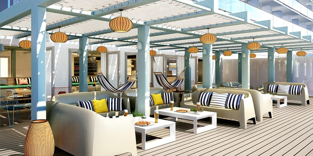 <br> The Scarlet Lady will house 20 different eateries, from quick bites to fancy steakhouse-style meals, unrestricted by traditional parameters for culinary options on cruises.