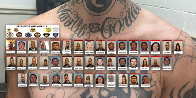 """The Department of Justice announced Monday 43 men and women linked to the """"Ghost Face Gangsters"""" were indicted on charges """"related to drug trafficking and firearms possession throughout eastern Georgia and beyond."""""""