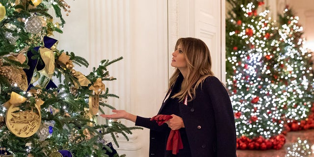"Melania Trump brushed off criticism of her holiday décor, saying ""everybody has different tastes."""