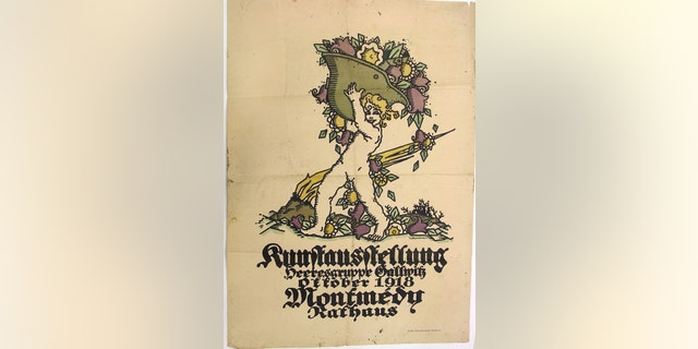 The poster advertising an art exhibition in German-occupied France during the final weeks of World War I. (National WWI Museum and Memorial)