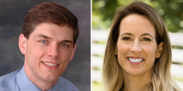 The race between Jay Webber (left) and Mikie Sherrill (right) is ranked as leaning Democrat.