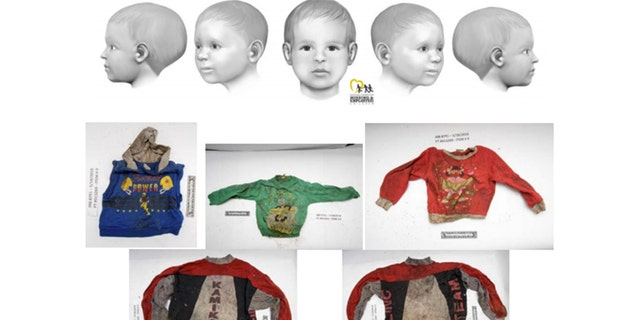 The clothing items shown in the photo were found with Baby Doe.