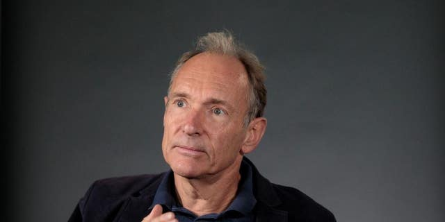 World Wide Web founder Tim Berners-Lee speaks during an interview ahead of a speech at the Mozilla Festival 2018 in London, Britain October 27, 2018.