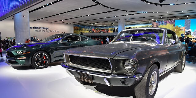 An All New  Mustang Bullitt Shares The Stage With The Original  Mustang Gt
