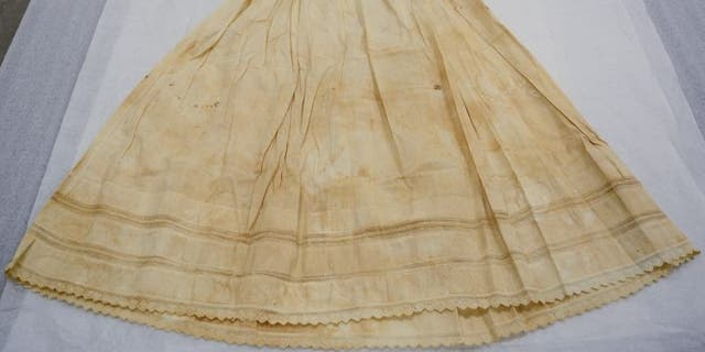The baby dress is among the family heirlooms loaned to the Museum of the American Revolution by Alexander Hamilton's fifth great-grandson. (Museum of the American Revolution)