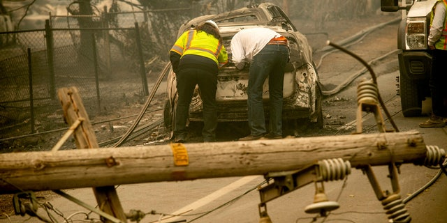 Pacific Gas and Electric said last month it determined weather conditions were no longer dangerous enough to warrant a massive power shut off on Nov. 8 - a decision that came as a massive fire was tearing through a Northern California town.
