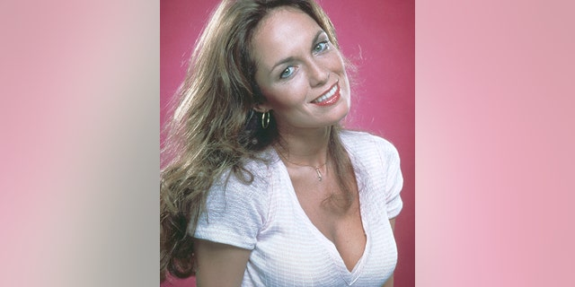 "Actress Catherine Bach, who played Daisy Duke in the television series ""The Dukes of Hazzard,"" circa 1985. (Photo by Hulton Archive/Getty Images)"
