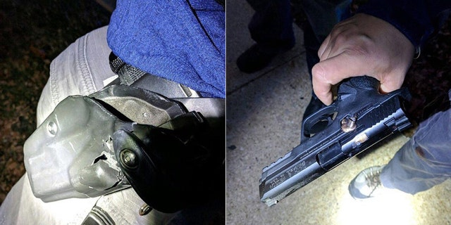 A second Chicago police officer was also shot at during the gun battle but was not injured because the bullet struck his holster and embedded itself in his gun.