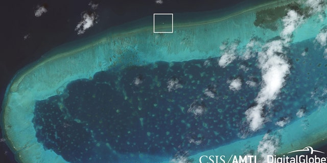 The new structure on Bombay Reef has been spotted in satellite photos.