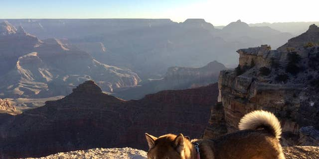 The two visited the Grand Canyon, Heroux said.