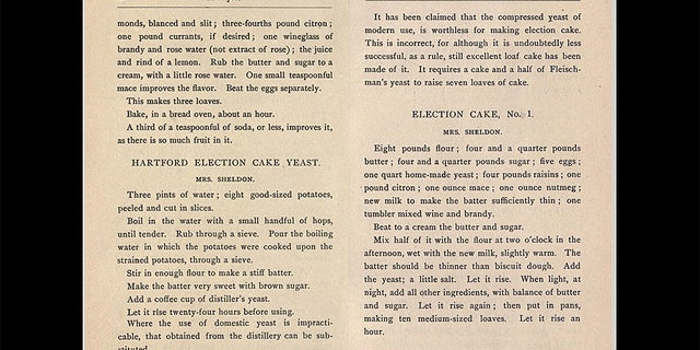 """Election Cakes, or """"muster cakes,"""" trace back to the Colonial days of America."""