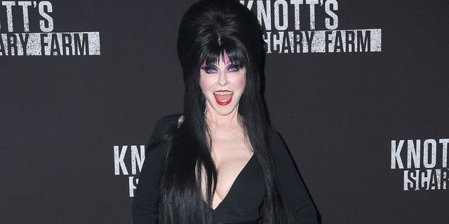 Elvira, Mistress of the Dark is revealing why she kept mum about her relationship with a woman for years.