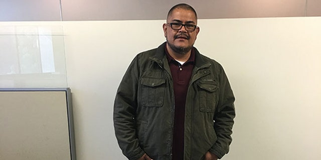 Hernandez, photographed after the operation, lost more than 100 pounds in a week.