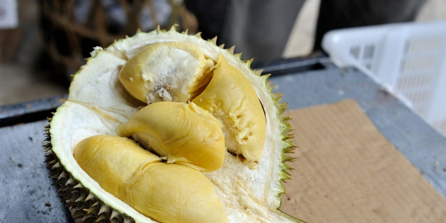 """A shipment ofdurian, sometimes referred to the """"king of fruits,"""" was removed from the plane after complaints."""
