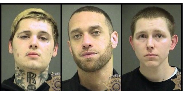 Daniel Marcum, 22, Anthoney Smith, 33, and Patrick Darnielle, 28 were also arrested.