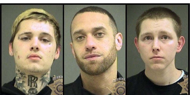 Daniel Marcum, 22, Anthoney Smith, 33, and Patrick Darnielle, 28 were also arrested.