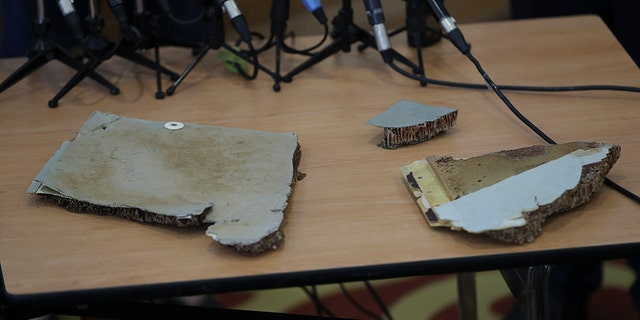 Pieces of debris believed to be from the missing Malaysia Airlines Flight 370.