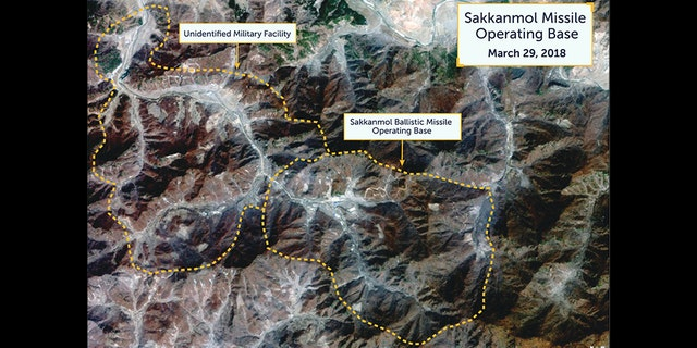 Photos by Beyond parallel/CSIS show possible missile operating bases in North Korea.