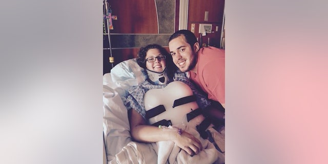 She said the unwavering support from her family and now-husband Amos helped her cope during the 7.5-month hospitalization.