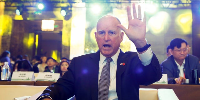 Outgoing California Gov. Jerry Brown.