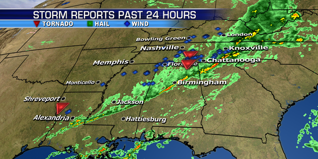 Storm damage reports across Tennessee and the Southeast as s storm system moves east.